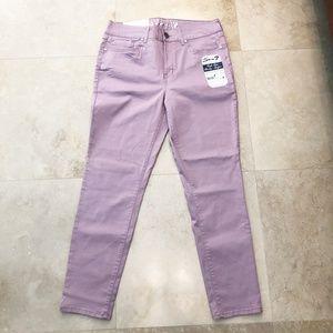 NWT Seven7 High Rise Skinny Jeans Mauve Sz 12, 14